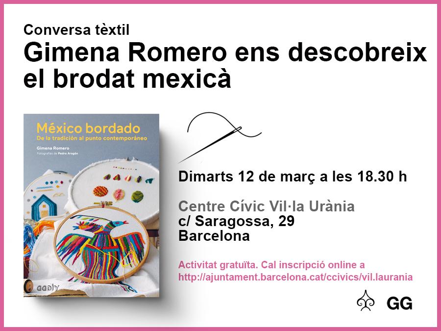12/03 Gimena Romero nos descubre el bordado mexicano