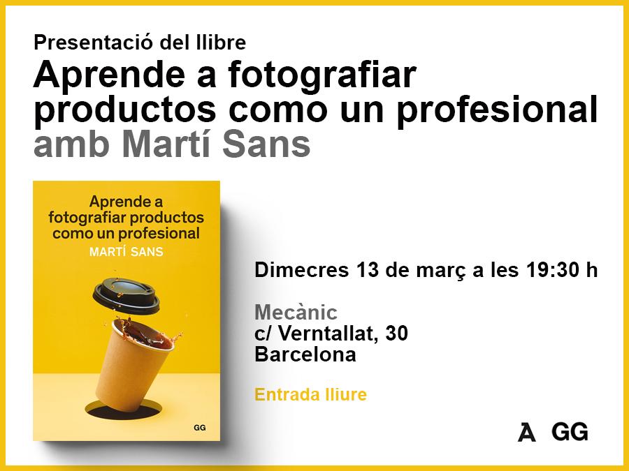 13/03 Martí Sans presenta su libro en el espacio Mecànic de Barcelona