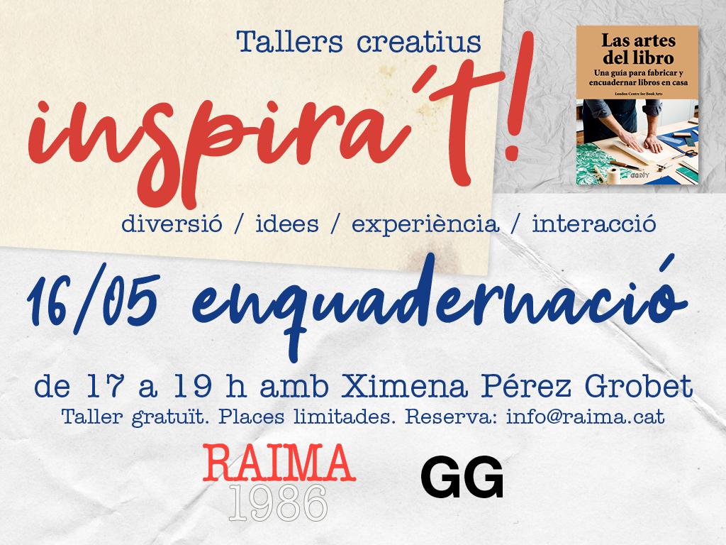 16/05 Taller de encuadernación de libros con Ximena Pérez Grobet