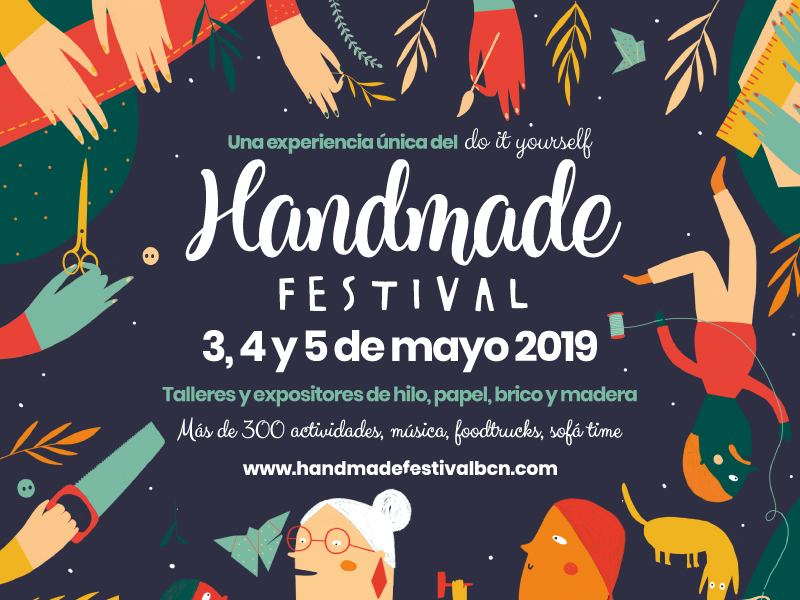 3-5/05 > ¡Volvemos al Handmade con stand y taller de cosmética natural!