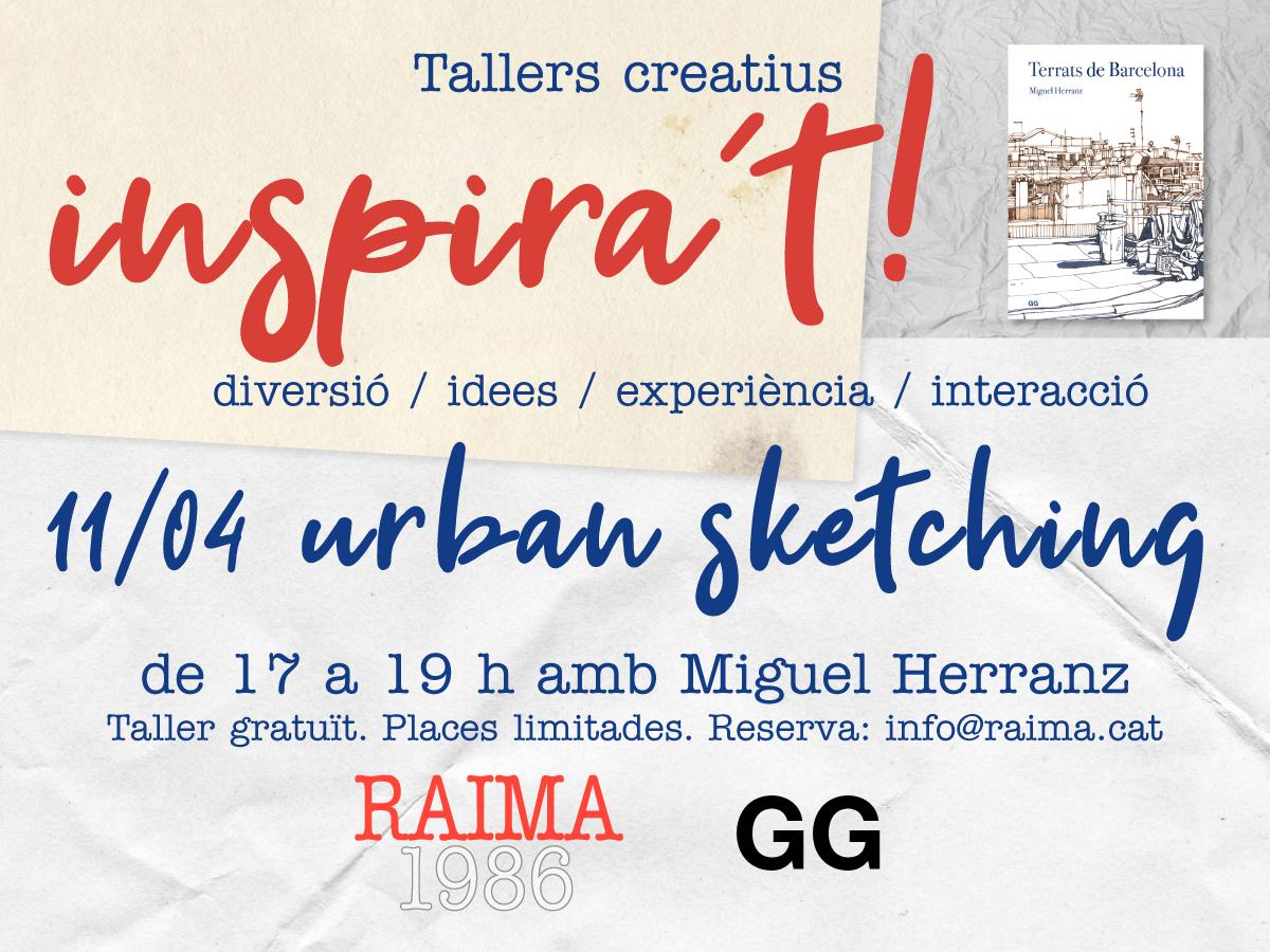 11/04 Taller de urban sketching en Raima con Miguel Herranz