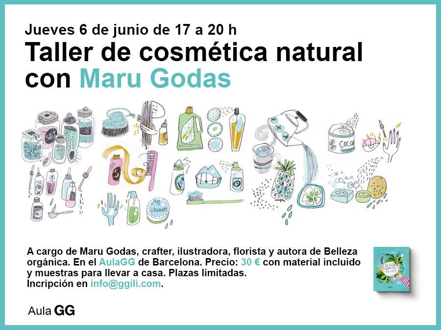 06/06 Taller de cosmética natural con Maru Godas en el AulaGG