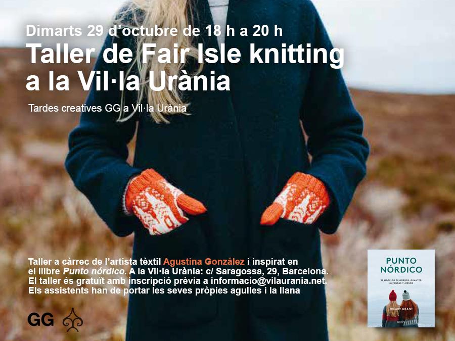 29/10 Taller de Fair Isle knitting en la Vil·la Urània