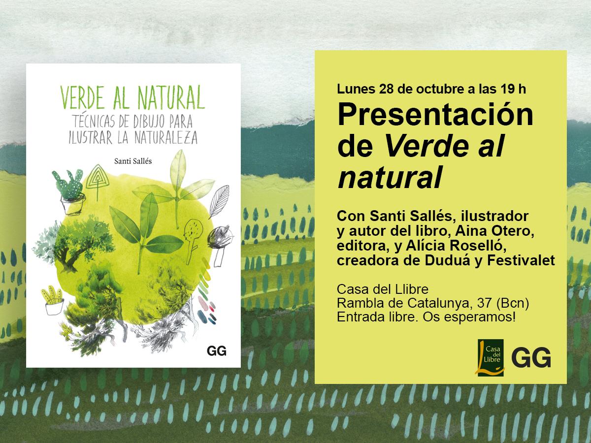 28/10 Presentación de 'Verde al natural' en la Casa del Llibre de Barcelona