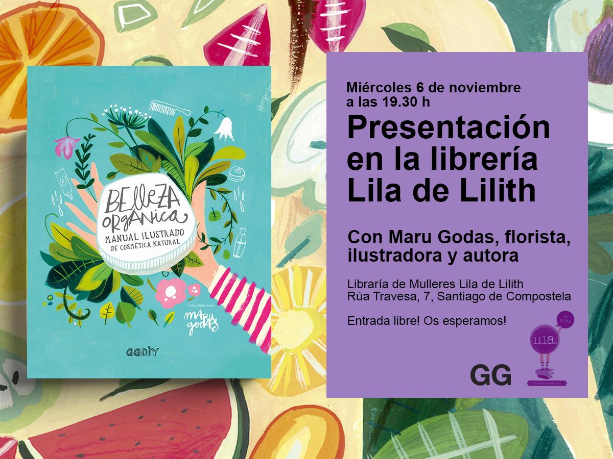 06/11 Presentación de 'Belleza orgánica' en la librería Lila de Lilith de Santiago de Compostela