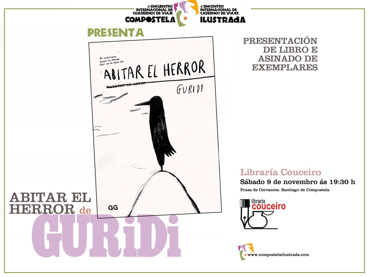 9/11 Guridi presenta 'Abitar el herror' en la librería Couceiro de Santiago de Compostela