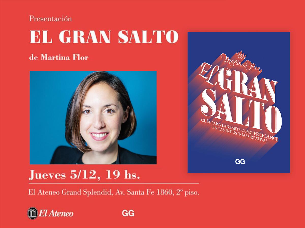 5/12 Martina Flor presenta 'El gran salto' en El Ateneo de Buenos Aires