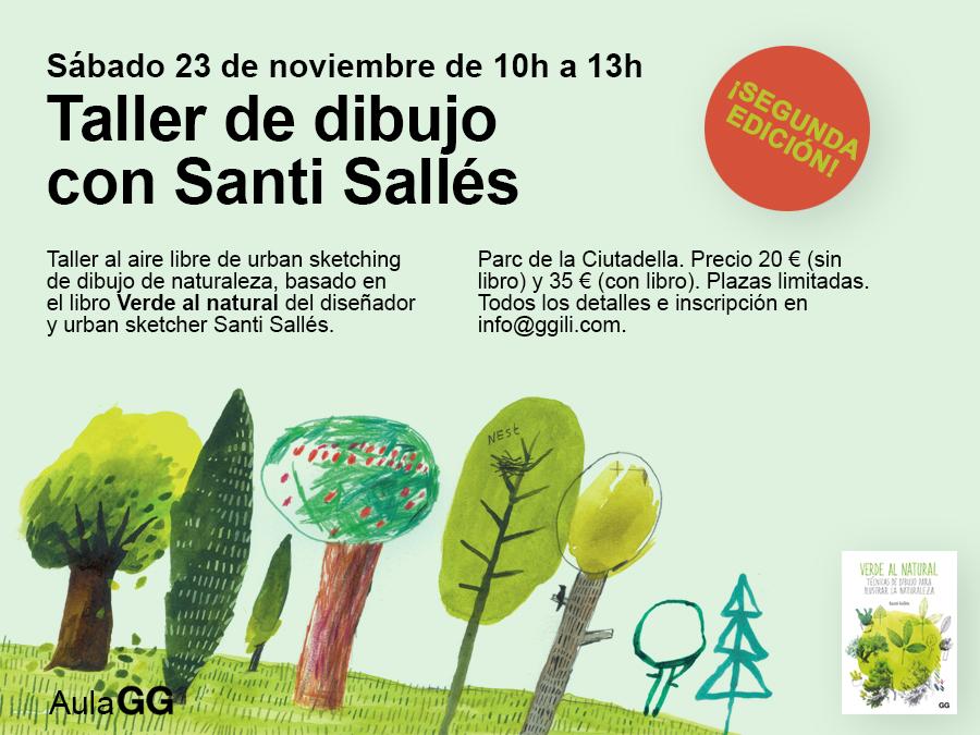 23/11 ¡SEGUNDA EDICIÓN! Taller de dibujo con Santi Sallés