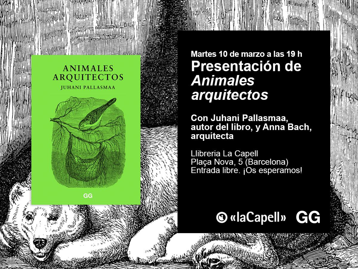 10/03 Juhani Pallasmaa presenta 'Animales arquitectos'