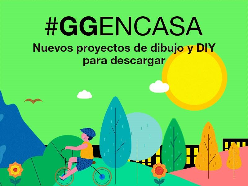#GGENCASA 11 > Descárgate ejercicios y proyectos de dibujo y DIY para toda la familia (4ª parte)