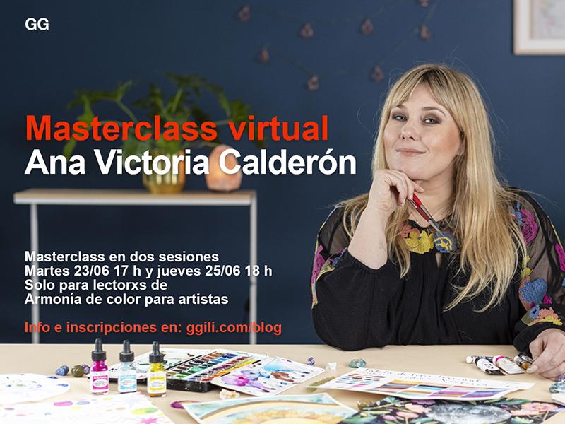 Masterclass virtual con Ana Victoria Calderón > Dos sesiones sobre 'Armonía de color para artistas'